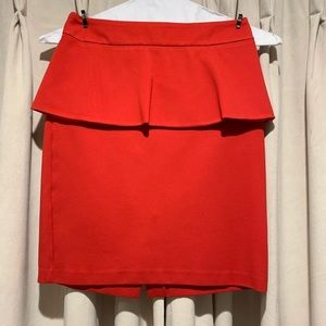Red Peplum Shirt (Cynthia Rowley)